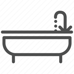 bath, bathroom, hot, room, tap, toilet, water icon