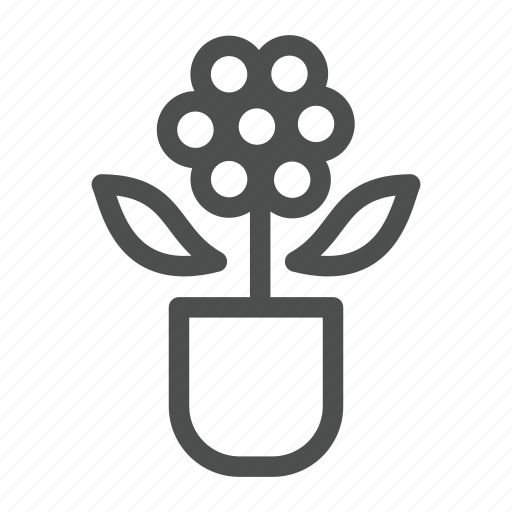 flower, green, home, life, nature, plant, water icon
