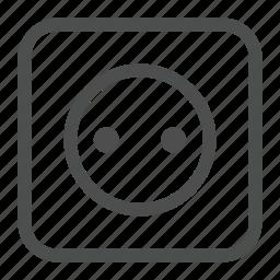 appartment, appliances, electricity, light, plug, socket icon