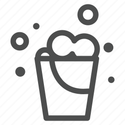 bucket, bulb, clean, floor, household, tide, water icon