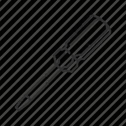 equipment, flathead screw, household, repair tool, scewdriver, screw, tools icon