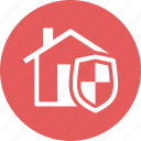 home insurance, home protection, house, shield icon