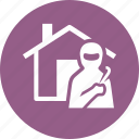 burglary, home insurance, thief, vandalism icon
