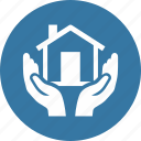 hands, home insurance, protection, safe icon