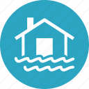 flood, home insurance, water icon