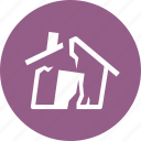 disaster, earthquake, home insurance, house icon