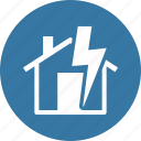 home insurance, lightning, thunderstorm icon