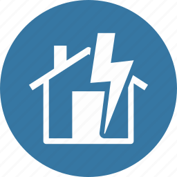 home insurance, lightning, thunderstorm icon