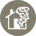 home insurance, hurricane, tornado icon