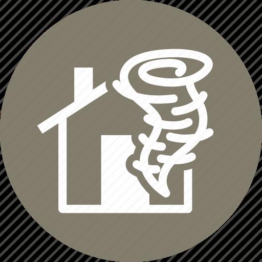 home insurance, hurricane, tornado icon