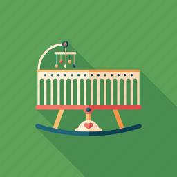 baby, bed, child, cradle, crib, family, newborn icon