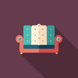 antique, art, couch, deco, furniture, sofa, vintage icon