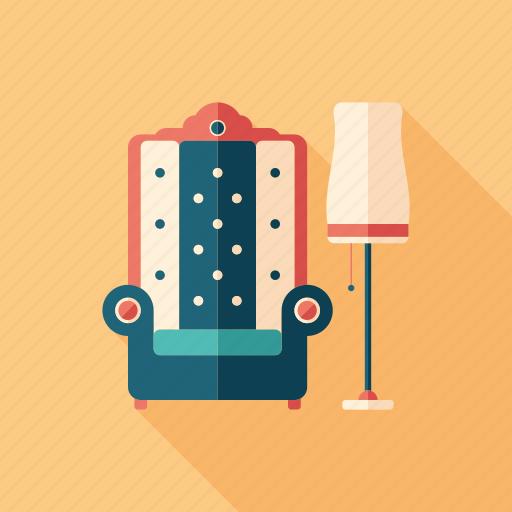 armchair, art, deco, floor, furniture, lamp, vintage icon