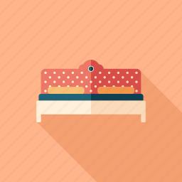 art, bed, bedroom, deco, furniture, sofa, vintage icon