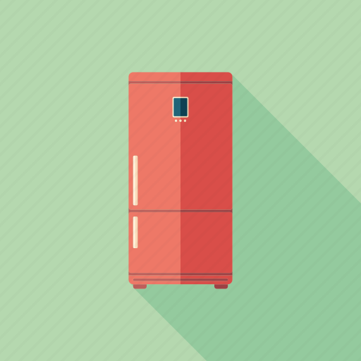 closed, freeze, freezer, ice, kitchen, red, refrigerator icon