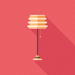 floor, lamp, lampshade, light, lighting, luminaire, tall icon