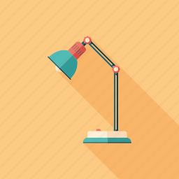 desk, electric, furniture, illuminate, lamp, light, spotlight icon