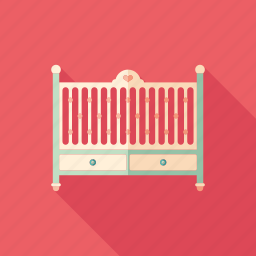 baby, bed, child, cot, crib, family, newborn icon