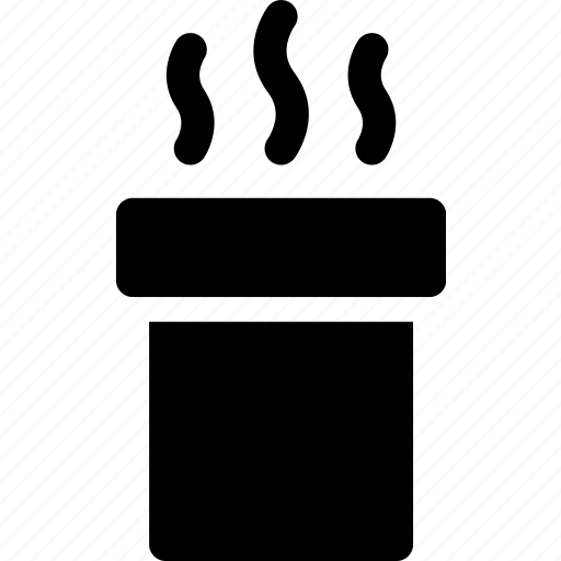 chimney, christmas, fireplace, funnel, rooftop, smokestack icon