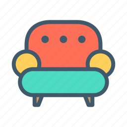 bedroom, furniture, home, house, interior, living, room icon