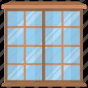 balcony, home window, room interior, room window, window view icon