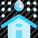 home, house, leak, rain, roof