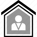 buying, equity, home, person, realestate, realtor icon