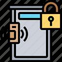 front, door, padlock, secure, entrance