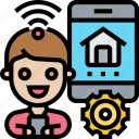 home, automation, smartphone, remote, control