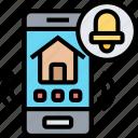mobile, notification, smartphone, alarm, call