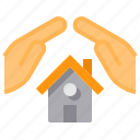 estate, hand, house, insureance, real, security