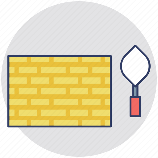 architecture, brick wall, build, building industry, construction work icon