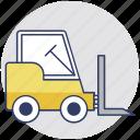 cherry picker, industrial vehicle, forklift truck, jack, warehouse truck