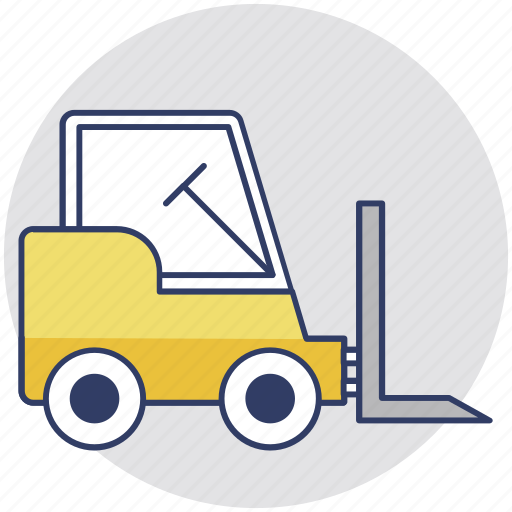 cherry picker, forklift truck, industrial vehicle, jack, warehouse truck icon