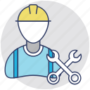 engineer, handyman, labourer, repairman, worker icon