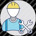 labourer, engineer, worker, repairman, handyman