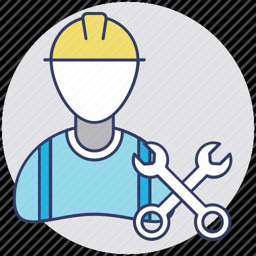 Labourer, engineer, worker, repairman, handyman icon