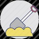 garden trowel, hand trowel, spade tool, spade, digging tool