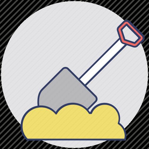 digging tool, garden trowel, hand trowel, spade, spade tool icon