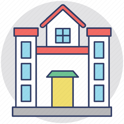 architecture, building, house, real estate, residence icon