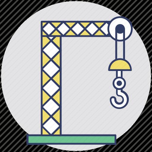 building crane, construction equipment, construction tower crane, crane tower, loading crane icon