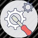 cogwheel, configuration, service tool, maintenance, settings