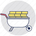 barrow, gardening cart, hand cart, hand truck, wheelbarrow icon