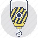construction, crane hook, lifter, lifting, lifting hook icon