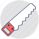carpenter, cutting tool, hacksaw, hand saw, sharp tool icon