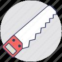 sharp tool, hand saw, carpenter, cutting tool, hacksaw
