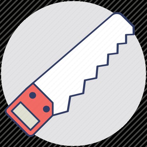 carpenter, cutting tool, hacksaw, hand saw, sharp tool icon