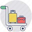 hand trolley, hand truck, luggage cart, push cart, trolley icon