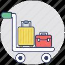 hand truck, trolley, hand trolley, luggage cart, push cart