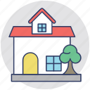 cottage, country house, home, house, rural house icon